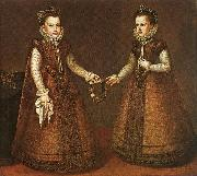 Infantas Isabel Clara Eugenia and Catalina Micaela sa
